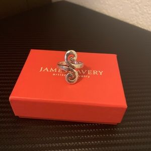 James Avery Swirl Hammered Silver Ring